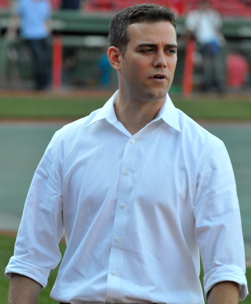 By Scott Slingsby from Rochester, NH (Theo Epstein, Boston Red Sox) [CC BY 2.0 (http://creativecommons.org/licenses/by/2.0)], via Wikimedia Commons